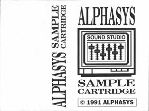 Alphasys Sample Cartridge