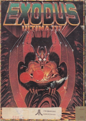 Exodus UltimaIII disk front
