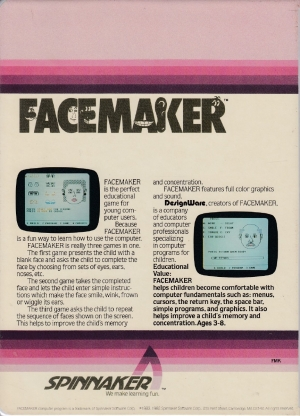 Facemaker cart back