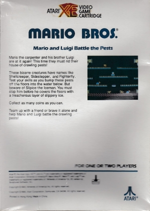 Mario Bros cart back