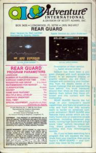 Rear Guard cass back